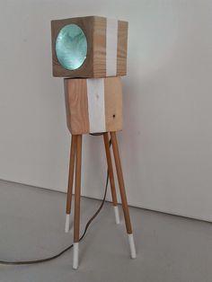 Tischlampen - Tischlampe Holz - ein Designerstück von ucciokHo bei DaWanda