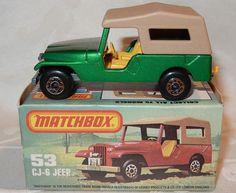 MATCHBOX LESNEY SUPERFAST - No 53 CJ-6 JEEP - MINT IN MINT K BOX #Matchbox
