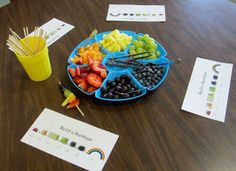 """This explores the colours of the rainbow, as well as involving food and healthy living. By using this """"colour wheel"""", educators can help children learn about healthy eating habits and how they can incorporate all food groups into their diet, and also incorporate colourful foods."""