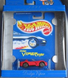 Hot Wheels 30th Anniversary Commerative Replica 1993 Dodge Viper RED by Mattel. $3.00. Hot Wheels 30th Anniversary Commerative Replica 1993 Dodge Viper RED 1:64 Scale Collectible Die Cast Car. Brand new in factory sealed box