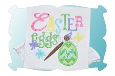 Easter Eggs 25 Cents Applique! A great addition to your Easter design stash and one of our favorites! Only 1 panel of fabric needed to complete this applique design!