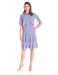 S.L. Fashions Women's Jewel Jacket Capelet Dress *** Review more details here : Women's dresses