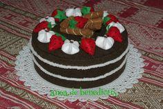Felt chokolate  cake