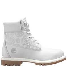 Timberland Women's 6-Inch Floral Premium Waterproof Boots (Vapor Grey Floral Embossed Waterbuck)