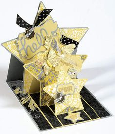 Card making the fun and easy way! As each label is lifed, a new layer is revealed! You'll receive 3 blank cards (80# cover stock) and matching envelopes, along with paper patterns to cover your card, step-by-step photo instructions and a project idea to get you started! These convenient Triple Star Die-Cut cards from Hot Off The Press will save you time, and can be found at PaperWishes.com