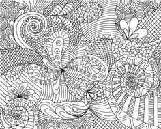 printable adult coloring pages | Coloring Page Printable Zentangle Inspired Pattern by JoArtyJo on ... by sally tb