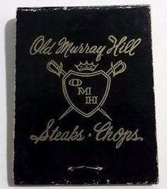 Old-Murray-Hill-Matchbook-Front-Strike-Steakhouse-Restaurant-NY-40th-Street-50s