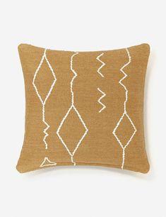 Moroccan Flatweave Pillow, Ochre By Sarah Sherman Samuel