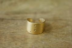 Gold Plated Cancer Constellation Ring by JulieNolanJewelry on Etsy, $45.00