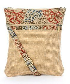 Look at this Rising Tide Natural Paisley Jute Tablet Bag on #zulily today!