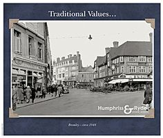 Historical image of Bromley provides a real point of interest on this Bormley estate agents postcard