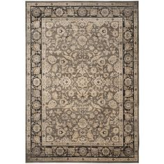 Safavieh Vintage Taupe/ Black Rug (8' x 11') - Overstock™ Shopping - Great Deals on Safavieh 7x9 - 10x14 Rugs