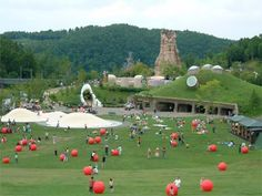 The 18 Best, Amazing, Creative, Wow Playgrounds In The World Hillside Park, Play Spaces, Something New, Kids Playing, Golf Courses, Dolores Park, Around The Worlds, Playground Ideas, Japan