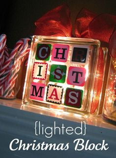 Lighted Christmas Block - Ginger Snap Crafts - Sugar Bee Crafts