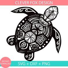 Turtle Svg Dxf Png Eps Jpg Pdf Mandala Turtle