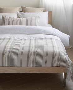 Luxury Bedding On A Budget Brown Bed Linen, Neutral Bed Linen, Contemporary Bed Linen, Modern Contemporary, Blue Gray Bedroom, Pottery Barn Teen Bedding, Cabin Interiors, Buy Bed, House Beds