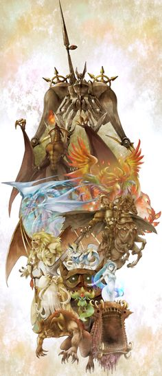 FFIX summons...but of awkwardness here, but the concept art is phenomenal