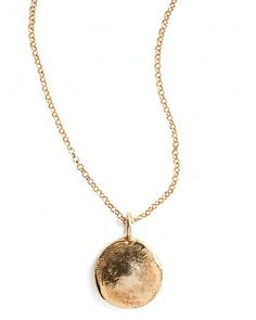 your child's fingerprint made into a gold necklace....cute idea!!