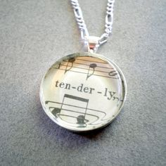 Sheet music necklace $24 #cool #music #vintage