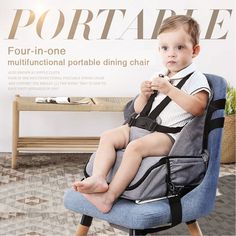 Babypie portable baby dining chair multi-function storage bag baby out eating seat. A good helper for fashion moms, multi-functional portable dining chair Baby Booster Seat, Travel High Chair, Car Table, Baby Chair, Diaper Backpack, Waterproof Fabric, Baby Sewing, Mom Style, Bag Storage
