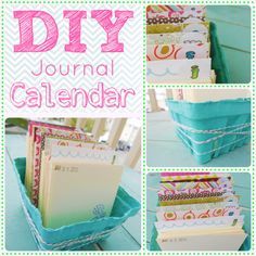 DIY daily journal calendar