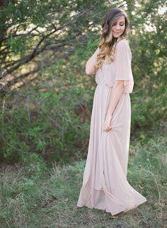 Fairy Chiffon dress Pink blush maxi dress Dress by BLUSHFASHION