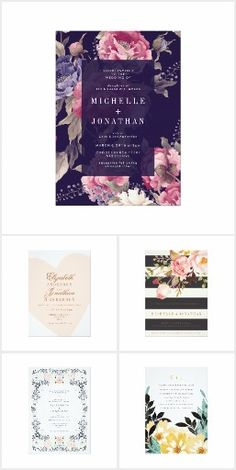Gorgeous wedding collection by Phrosne Ras!  Exquisite flowers and perfectly simple text to pair with it.  Wedding Invitations on zazzle