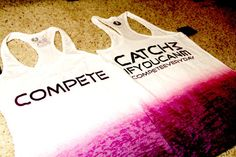 """New """"Catch Me If You Can"""" Ladies Racerback Tank    $32"""