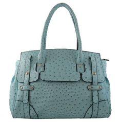 #Blue #Ostrich #Tote #Bag