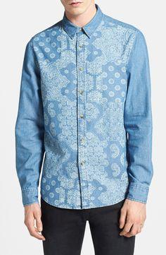 paisley denim shirt - Google Search