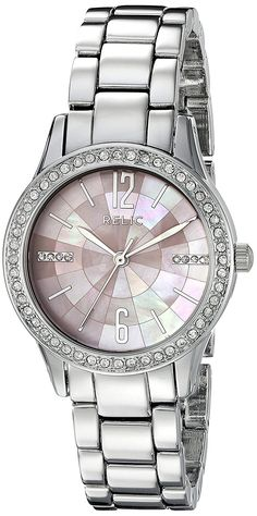 Amazing offer on Relic Fossil Women's Stacy Quartz Metal Dress Watch, Color: Silver (Model: online - Topyourfavorite Relic Watches, Ted Baker Womens, Jewelry Clasps, Casual Watches, Yellow Leather, Quartz Watch, Bracelet Watch, Silver, Fossil