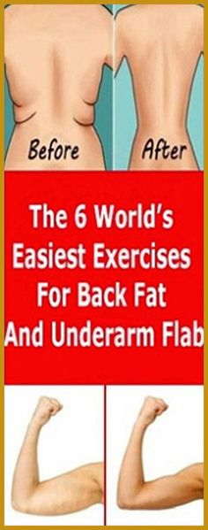 The 6 World's Easiest Exercises For Back Fat And Underarm Flab – Herbal Medicine Book Health Guru, Gut Health, Health And Wellbeing, Health And Nutrition, Holistic Remedies, Health Remedies, Natural Remedies, Health Teacher, Back Fat Workout