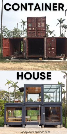 Building A Container Home, Container Cabin, Storage Container Homes, Container Buildings, Container Architecture, Container House Design, Dream Home Design, Tiny House Design, Modern House Design