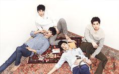 Leo, N, Hyuk, and Ken ♡ #VIXX // Ceci Magazine January Issue '14