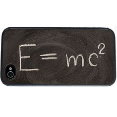 Theory of Relativity Formula iPhone 4 Case, fits iPhone 4 and 4s, Back... ($16) ❤ liked on Polyvore