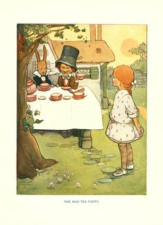 Alice In Wonderland by Lewis Carroll - Illustrated by Mabel Lucie Atwell - Published by Tuck of London - free eBook from University of Florida Baldwin Library of Historical Children's Literature - beautiful illustrations