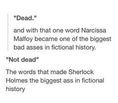 Yes! I've always been drawn to know Narcissa more. I'd love to read the story…