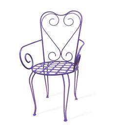 Cadeira de ferro para jardim modelo Magnólia