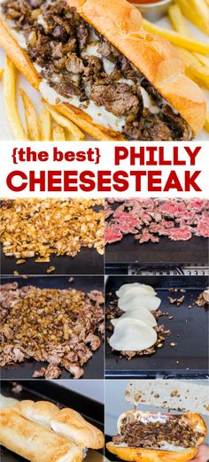 Philly Cheesesteak Recipe The best Philly Cheesesteak with tender ribeye steak, melted provolone, and caramelized onion in a garlic butter roll. Easy Philly Cheesesteak Sandwich video how-to. Philly Cheese Steak Sandwich, Steak Sandwich Recipes, Philly Steak Sandwich, Grilling Recipes, Beef Recipes, Cooking Recipes, Outdoor Griddle Recipes, Blackstone Grill, Kitchens