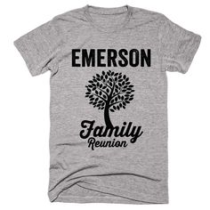EMERSON Family Name Reunion Gathering Surname T-Shirt