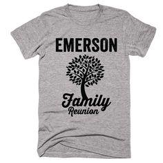 EMERSON Family Name Reunion Gathering Surname T-Shirt