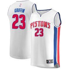 b73795d6c79 Blake Griffin Detroit Pistons Fanatics Branded Fast Break Replica Jersey -  Association Edition - White