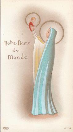 Vintage Holy Cards, Vintage Christmas Cards, Blessed Mother Mary, Blessed Virgin Mary, Catholic Art, Religious Art, Roman Catholic, Mama Mary, Sainte Marie