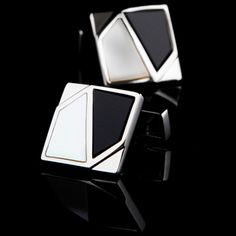 Mosaic Black And White Onyx Cufflinks