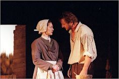 "John & Elizabeth Proctor.  John Proctor had three wives, two of them named ""Elizabeth,"" and fathered seventeen children."