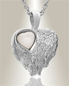 Mother of Pearl Heart within a Heart Pendant