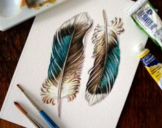 red tailed hawk feather tattoo - jodyvanB