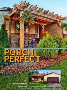 #1918 Porch Pergola Plans - Outdoor Plans