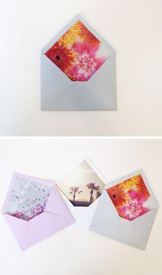 DIY Personalized Envelope Lining
