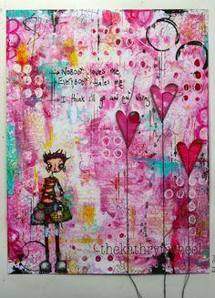 The Kathryn Wheel: Valentine's day journaling with Gelli